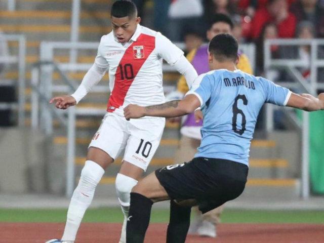 Perú empató 1-1 partido de vuelta ante Uruguay