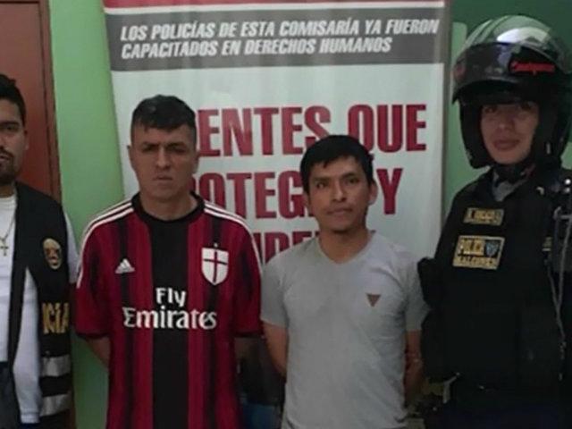 Detienen a raqueteros que asaltaban en auto en El Agustino