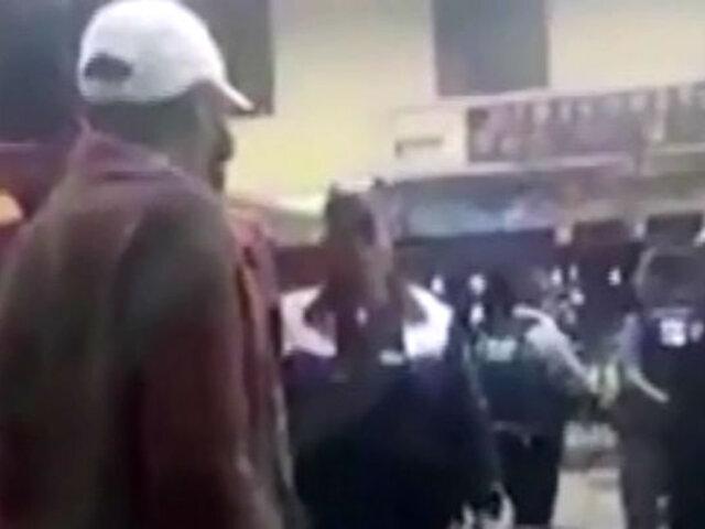 """Huancayo: municipal agredió a anciano que lo llamó """"zángano"""""""
