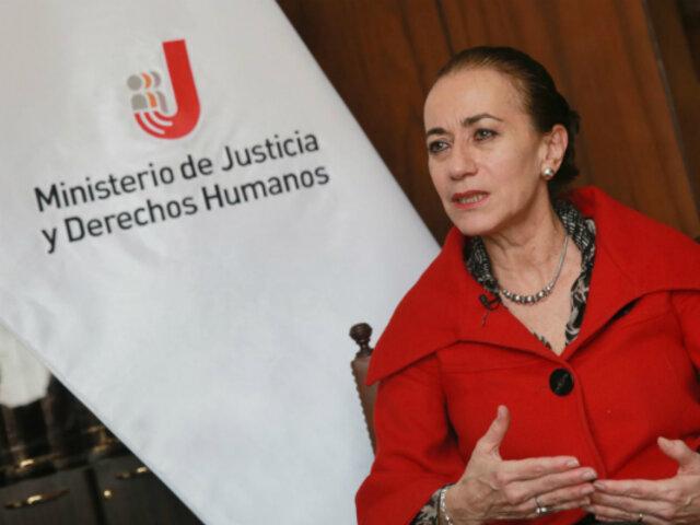 Ministra de Justicia considera un respaldo al Estado pronunciamiento de Comisión de Venecia