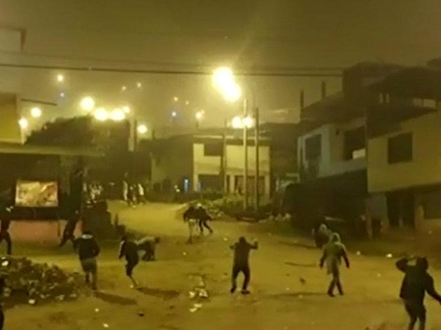 SJM: pandilleros se enfrentan a balazos en la zona de Pamplona Baja