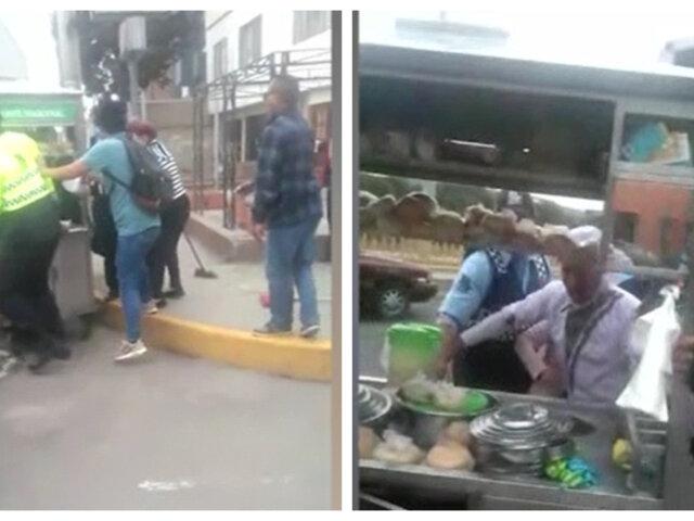 Barranco: vecinos se enfrentan a serenos por defender a vendedor de emoliente