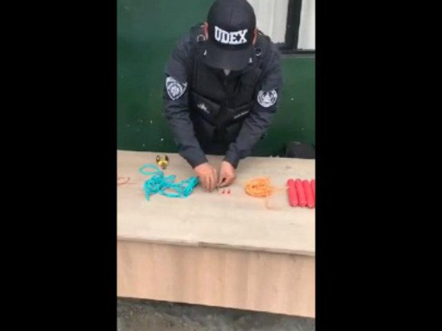 Trujillo: hallan cartuchos de dinamita al interior de empresa de transportes