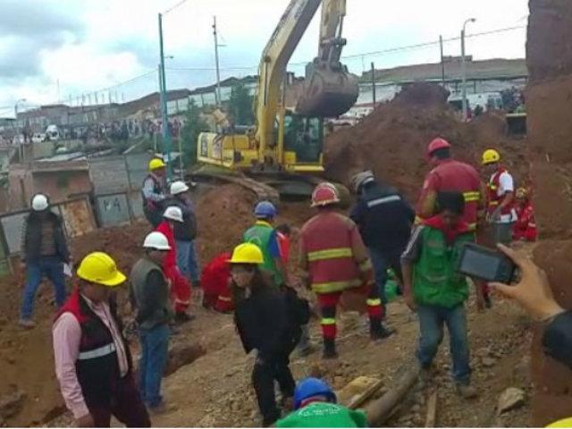 Cusco: tres obreros perdieron la vida tras deslizamiento de tierra y piedras