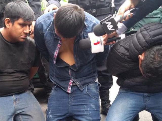 San Isidro: ladrones son capturados momentos después de asaltar tienda de equipos electrónicos