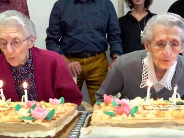 Francia: gemelas celebran sus 100 años de vida