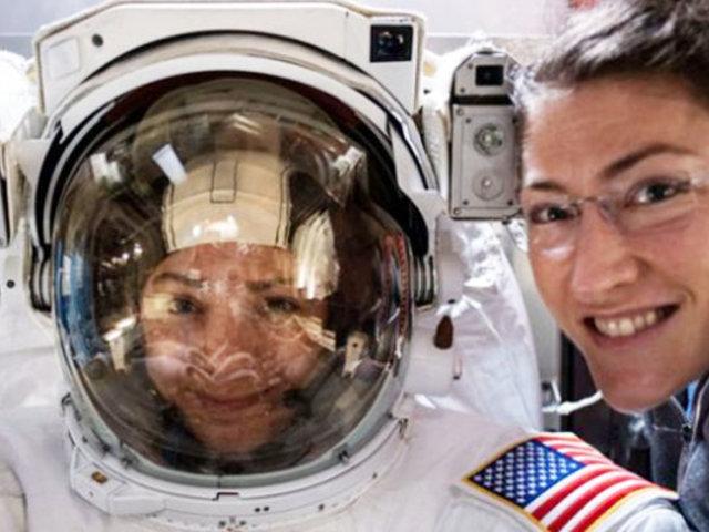 NASA: realizan primera caminata espacial exclusivamente de mujeres