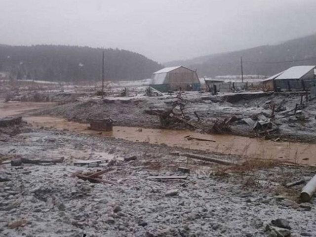 Al menos 15 muertos dejó el derrumbe de una represa en Rusia