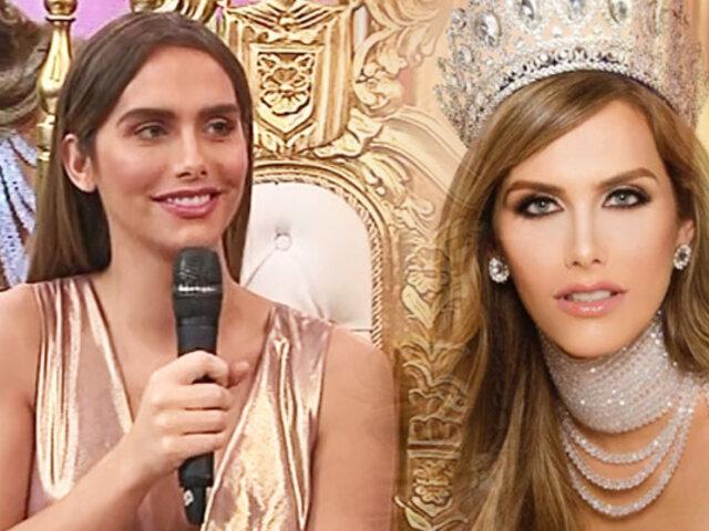 """Miss España, Ángela Ponce engalanó el set de """"Porque hoy es sábado con Andrés"""""""