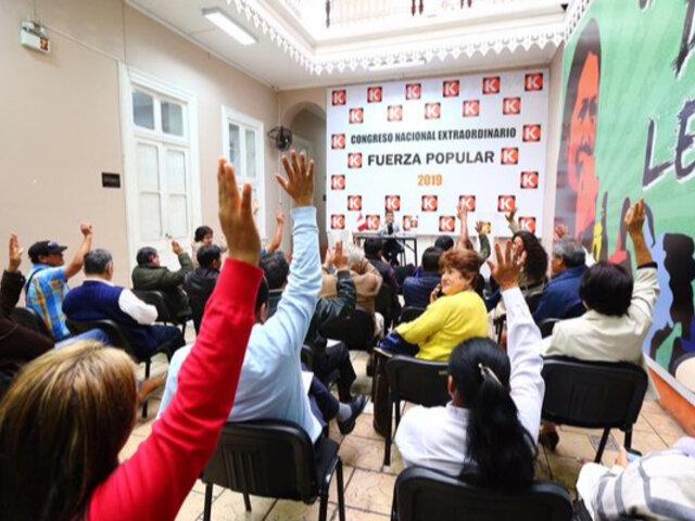 Fuerza Popular acuerda participar en elecciones congresales del 2020