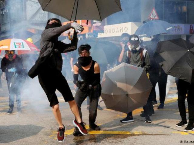 Hong Kong: enfrentamientos durante nueva jornada de protestas no autorizadas
