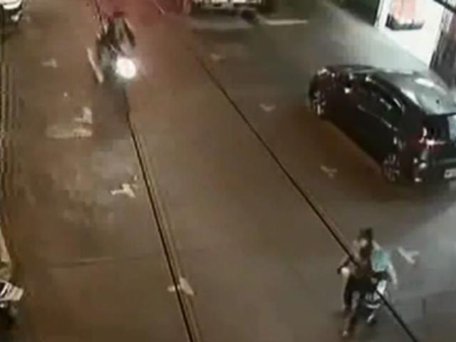Ayacucho: motociclista atropelló brutalmente a madre y su hijo
