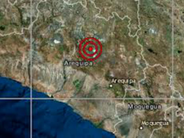 Sismo de magnitud 5.0 se registró esta tarde en Arequipa