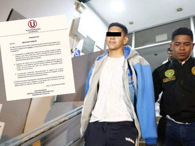 Universitario suspende temporalmente a jugador de la Selección Sub 17 acusado de violación