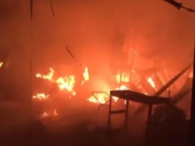 Huarmey: incendio deja considerables pérdidas en mercado