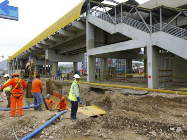 SJL: continúa inoperativa estación Pirámide del Sol del Metro de Lima