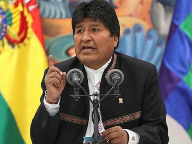 """Bolivia: Evo Morales denuncia que está en proceso """"un golpe de Estado"""""""