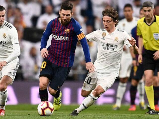 ¡Ya es oficial! Se definió fecha para el primer clásico entre Barcelona y Real Madrid