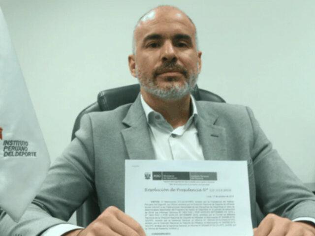 Presidente del IPD renuncia al cargo tras escándalo por retiro de apoyo a deportistas