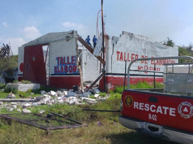 México: dos fallecidos deja explosión en taller de pirotécnicos