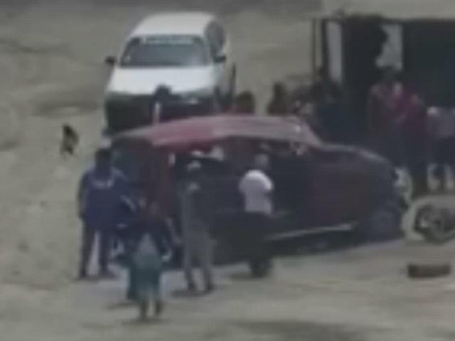 Panamericana Sur: al menos dos muertos y cinco heridos deja despiste de minivan