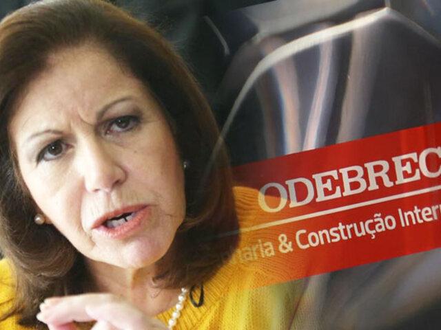 """Fiscalía afirma que Lourdes Flores habría """"gestionado"""" arbitraje a favor de Odebrecht"""