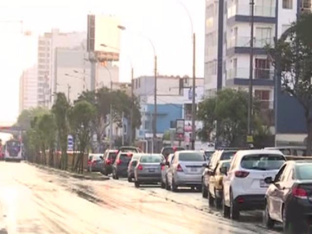 Aniego provocó embotellamiento en avenida Brasil