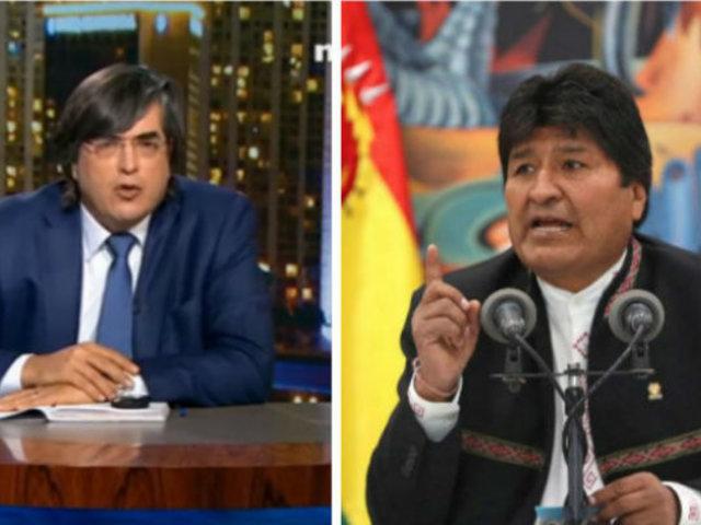 """Jaime Bayly sobre Evo Morales: """"desde La Habana y Caracas le ordenaron  que no entregue el poder"""""""