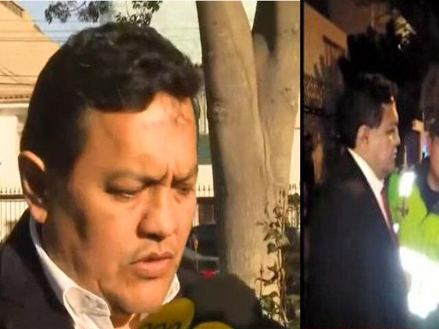 Pacheco informó que dio positivo en dosaje etílico y pidió disculpas por ocasionar accidente