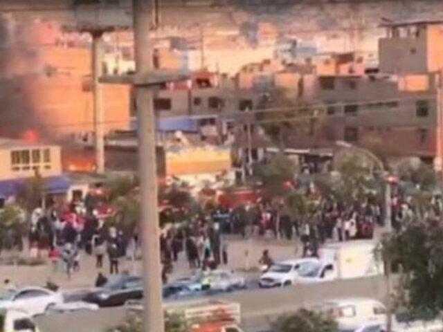 Independencia: se registra incendio en inmueble de Av. Alfredo Mendiola