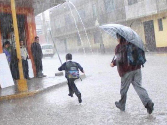 Senamhi prevé lluvias, granizadas y hasta tormentas eléctricas en estas regiones