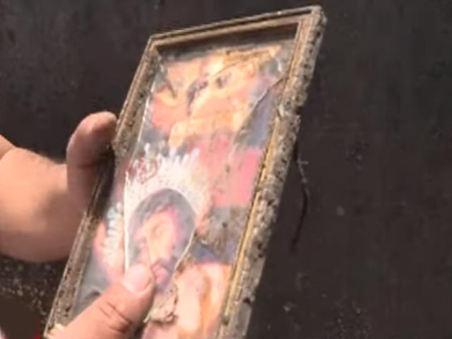 Creen que cuadro del 'Señor de los Milagros' salvó a anciano de incendio