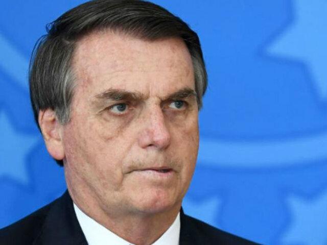 Denuncian a Bolsonaro por