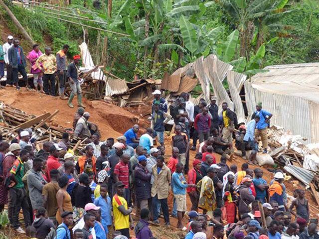 Decenas de muertos y desaparecidos deja alud en Camerún