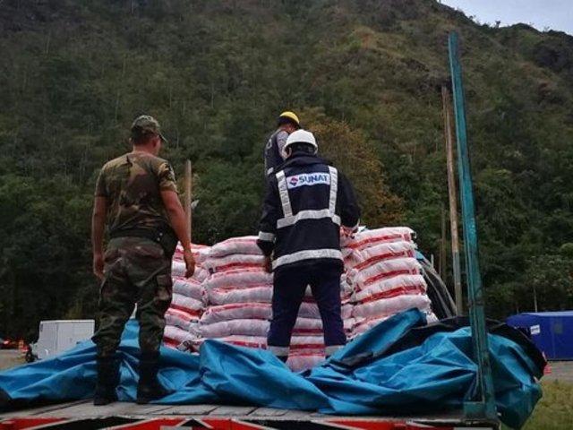 Sunat decomisó mas de mil toneladas de cemento y sal destinados al narcotráfico en lo que va del año