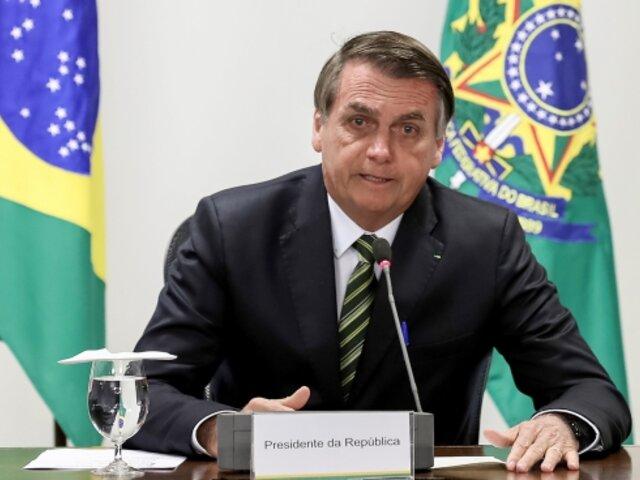 """Bolsonaro evalúa salida de Brasil de la OMS y la califica de tener """"sesgos ideológicos"""""""