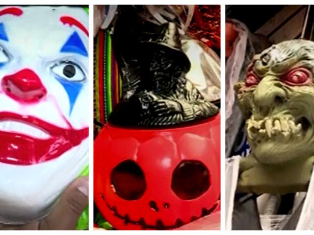 Halloween en Mercado Central: máscaras y accesorios tóxicos para la salud