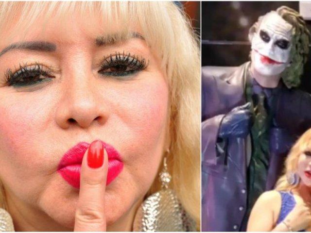 Susy Díaz y su divertido disfraz del 'Joker' por Halloween