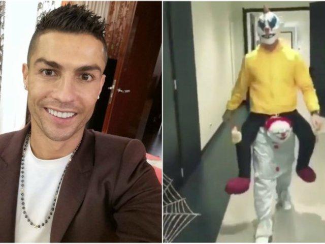 Cristiano Ronaldo y su disfraz de Halloween que asustó a sus compañeros de Juventus