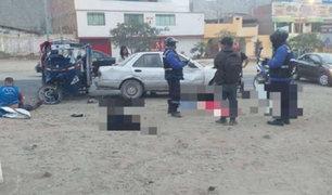 Cieneguilla: choque entre auto y mototaxi deja un muerto y cinco heridos