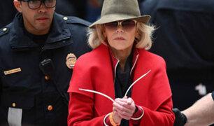 EEUU: actriz Jane Fonda es arrestada por cuarta vez