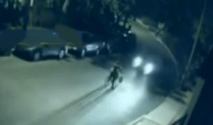 EEUU: conductor maneja en contra y atropella brutalmente a ciclista