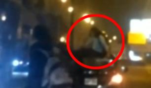 Miraflores: joven terminó sobre techo de auto tras aparatoso accidente