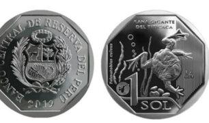 BCR: desde hoy circula moneda de S/1 alusiva a rana gigante del Titicaca