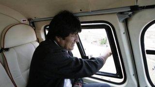 Helicóptero que trasladaba a Evo Morales aterrizó de emergencia por desperfecto