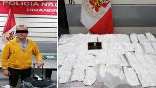 Cae portugués que intentó viajar a Ámsterdam con más de 3 kilos de cocaína