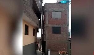Rímac: invaden espacio público con casa de tres pisos
