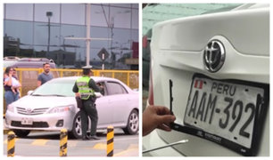 Falsos taxistas con placas adulteradas operaban en Aeropuerto Jorge Chávez