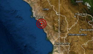 Sismo de magnitud 3.8 se registró esta tarde en Cañete