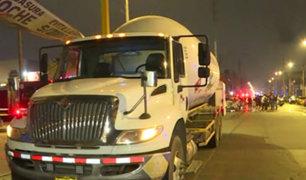 La Victoria: patrullero choca con camión que transportaba gas
